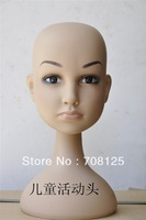 Plastic Kids Mannequin Head For Hat And Wig Display