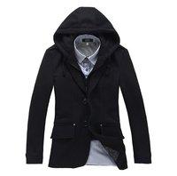 Men's Wool Blends Blazer Fashion Suits Winter Warm Coat Korea Style Peacoat Stylish Jackets Men Casual Wear
