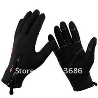 Black Windstopper Soft & Warm Simulated Leather Windproof Waterproof Outdoor GlovesM/L/XL three size, freeshipping,