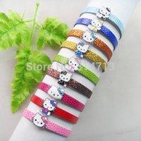 (Min.order 10$ mix) Wholesale (9 pieces/lot) Lovely HelloKitty Bracelet Girl Kid Birthday Party Favor Gift