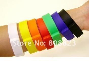 Wholesale Bracelet Wrist Custom Logo USB Flash Drive Memory Stick 1GB 2GB4GB 8GB 16GB 32GB 64GB
