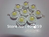 Free shipping 100pcs/lot  3.4V 1W 100LM 350mA White LED Bulb IC SMD Lamp High Power  Warm white