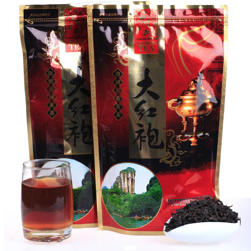250g Dahong Pao Tea Zip Seal bag Package High Fire Wuyi Oolong Tea Wuyi Wu long