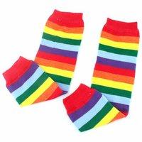 Pair Baby Child Toddler Leg Warmer Cover Rainbow Socks