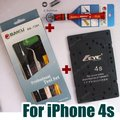 Top Qualtiy Disassembling Tool set + Pentalobe Screwdriver for iPhone 4S +Screw Position Memory Board. BK7285+BK338+M