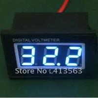 Hot sale!Wholesale  volt meter Waterproof Dust-proof Shockproof  Blue LED Voltage meter Voltmeter DC 4.5-30V Panel meter#00010