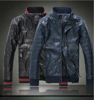 Free shipping Famous Brand Business Fashion Men's Genuine Leather Coat jacket.Top quality Sheep skin Leather Jackets.F879