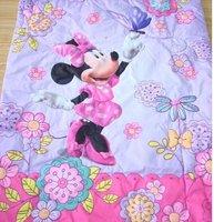 Free shipping children quilt cotton minnie cartoon  good qulity baby quilt 107cm*145cm