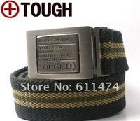 Men's Outdoor Strengthen Canvas Belt Military Waistband Waist Belt Length 140cm