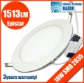 DHL/EMS/Fedex free 18W SMD LED panel light( 160mm dia,96pcs smd2835 LED,LED lumen1400lm)  free shipping !2012 new!!!!! 2835LED