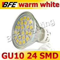4pcs/Lot 24 LED 5050 SMD GU10 Warm White Spot Light Bulbs Office Downlights