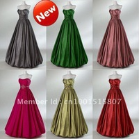 All Colors Avaliable! Custom Made! High Quality! Taffeta Quinceanera Dresses Strapless Ball Gown Ruche Beads Debutante Dresses