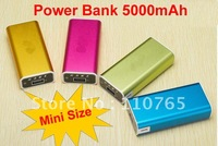 Mini Mobile Power Bank With Capacity 5000mAh Charger For Mobile phone/Tablet PC/Camera/MP3,4,5/Game Boy