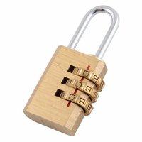 New Password Plus Metal Gold Padlock 3 Digit Combo Lock