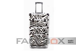 Zebra the bunk professional trolley beauty case beauty salons me European and American popular models(China (Mainland))
