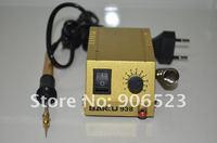 2sets/lot Brand New BK 938 metal outer covering portable soldering station SMD SMT solder rework station