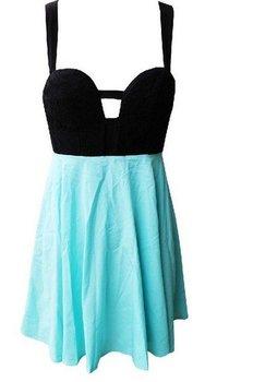 Free shiping Fashion pierced back bow embroidery fabric puff dress.Casual dress.Party Dress notu002