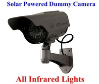 Solar Powered CCTV Security Fake Dummy Camera With All Infrared Lights Lighting At Night Free Shipping