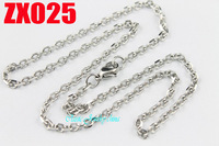 3mm Elliptic ring 316L stainless steel necklace fashion chain good jewelry parts men's male women's chains 20pcs ZX025