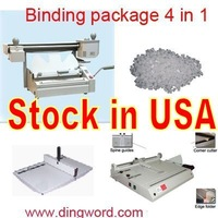 Perfect Book binding machine package : Perfect binder + Hardcover maker + Hand creaser + Binding Glue 8.81lb. Combo 4 in 1.