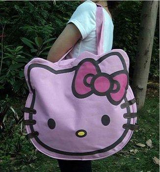 canvas handbags shoulder bag hello kitty handbag Shopping tote bag Hello Kitty cat face bags BKT219