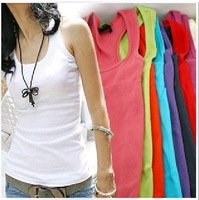 tank topsTemperament cotton quality guarantee Cotton ,Mix color Free Shipping 12pcs/lot  W4103