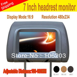 car Monitor 7 inch LED digital screen 2 Video input 1 Audio output installed headrest mini(China (Mainland))
