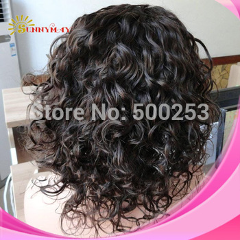 Sunnymay Beautiful Curly  Indian Remy Lace Front Human Hair Wigs