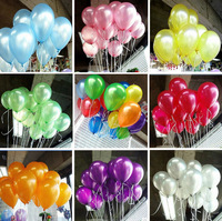 HOT SALE ~ Free  100pcs/lot  10inch 1.2g/pcs Latex Helium Inflable Thickening Pearl Wedding Party and  Birthday Balloon