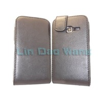 Black Flip PU Leather Case Cover Pouch + LCD Film For Samsung Galaxy Ace Duos S6802