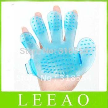100pcs/lot LEEAO 14CM Pet Sets Hands Bath Washing Brush Plastic Dog Massage Palm Comb Hand Color Random