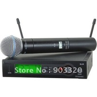 Free Shipping BETA58A wreless Microphone Set- SLX beta 58a Microphone Sound System,Support 110-240V,800-820MHZ