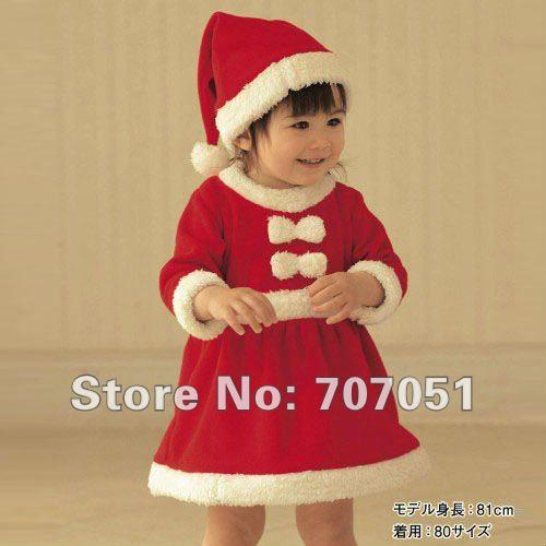 Закупка платьев для наших принцесс!!! 2012New-Winter-red-christmas-Baby-clothing-sets-children-suit-children-wear-3sets-lot-Nice-Short-Design