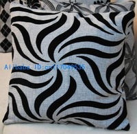 1PCS 17 inch (45cm*45cm) Gray Linen Pillow Cushion Cover For Sofa or Bed P7(zebra)