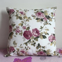 Pillowcase 1PCS 19 inch (50cm*50cm) Beautiful Floral Cloth Pillow Cushion Cover For Sofa or Bed P25(purple)