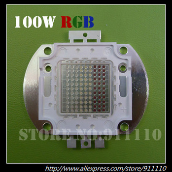 100W RGB High Power Led Red/ Green/ Blue Energy-Saving 100Watt Lamp