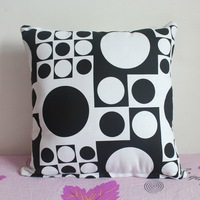 Pillowcase 1PCS 19 inch (50cm*50cm) Black & White Circles Cloth Pillow Cushion Cover For Sofa or Bed P28