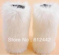 IT'S NOT SHOES,IT'S LEG WARMER New 30cm 2014 FREE shipping winter white faux rabbit  fur boots gaiters for women Christmas Gift