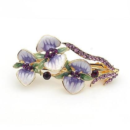 2014 diadema nuova e alla moda accessori per capelli mollette ts strass piccoli fiori lato- annodati ornamento clip(min fine $ 10)