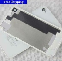 wholesale-top quality original Black white Glass Battery Cover Back replacement Housing for iPhone 4S 4GS, Free shipping 50pcs