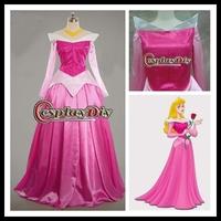 Custom made Beautiful Sleeping Beauty Aurora  Cosplay princess Party Dress  for Christmas