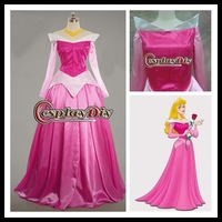 Custom made Beautiful Sleeping Beauty Aurora  Cosplay princess Party Dress  for Christmas