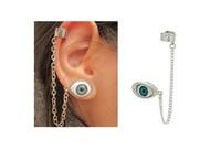 Min Order is $15 USD At Least! European and American Fashion Eye Ear Cuff Clip Earrings wholesale SJA374 8090 Jewelry