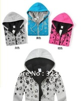 2013 female hooded cotton thick warm sweater printing cotton 3 colors optional - free shipping