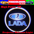 HK POST FREE + Wholesale 10 pairs 3D Car Projector Laser Door Welcome led Shadow Logo Light for Lada Priora 186 logo mix #I07052
