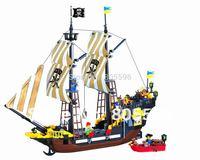 without original box No 307 Pirates Series Enlighten Building Block Set Construction Brick Toys Educational toy compatible