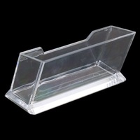 Clear Plastic Business Card Holder Display Stands Shelf