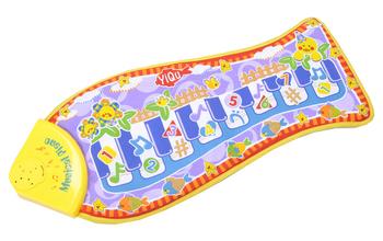 free shipping  fish piano music game carpet Fashion Children's Educational Toys fish Music crawling mat, baby toys blanket