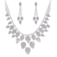 A0199!5sets/Lot!Free Shipping!Bridal Jewelry Set Silver Crystal Rhinestone Lady Costume Partyware Fashion Apparel Jewellery