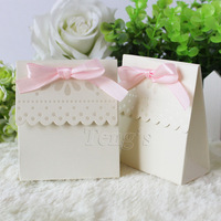 Free Shipping 50Pcs/Lot Party Wedding Favor Boxes Bags Baby Shower Favors Boxes Gift Candy Bags Boxes